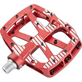 e*thirteen Plus Flat Pedals 22 Pins rot
